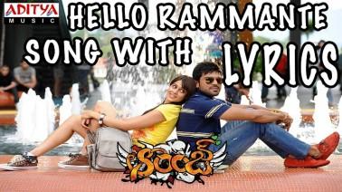 Hello Rammante Song Lyrics